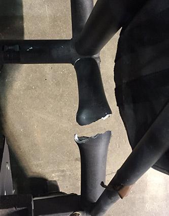 Broken Aluminium Truss