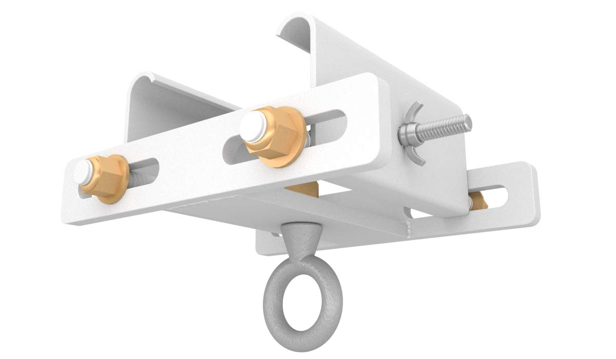 tent beam clamp in white