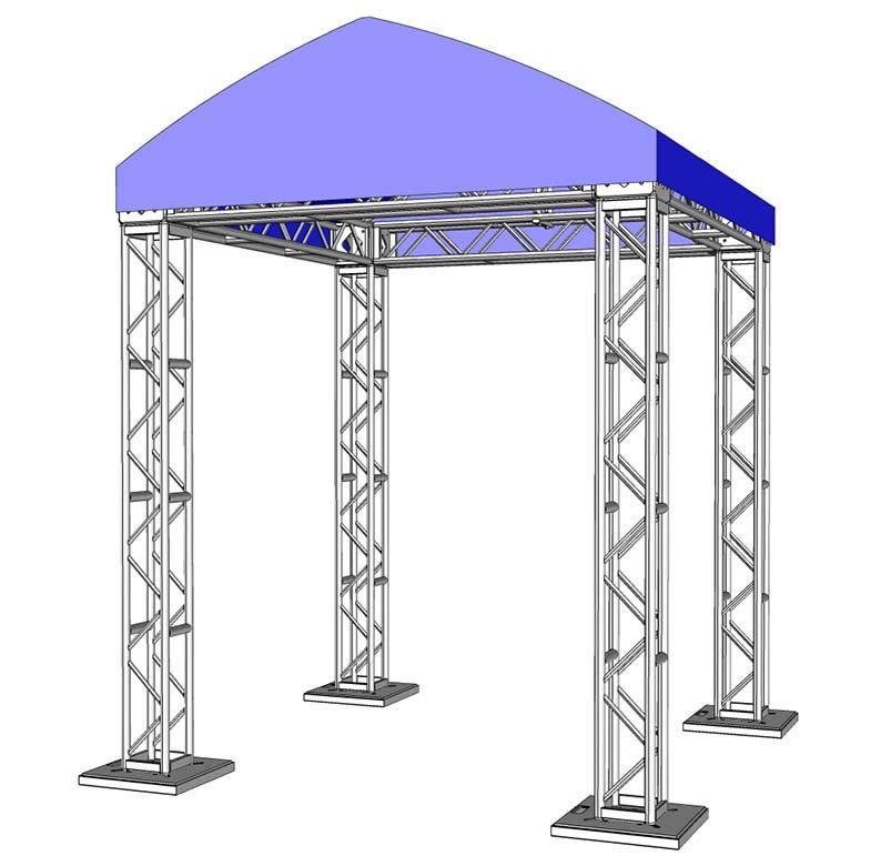 10 x 10 Modular Truss System - Assembled