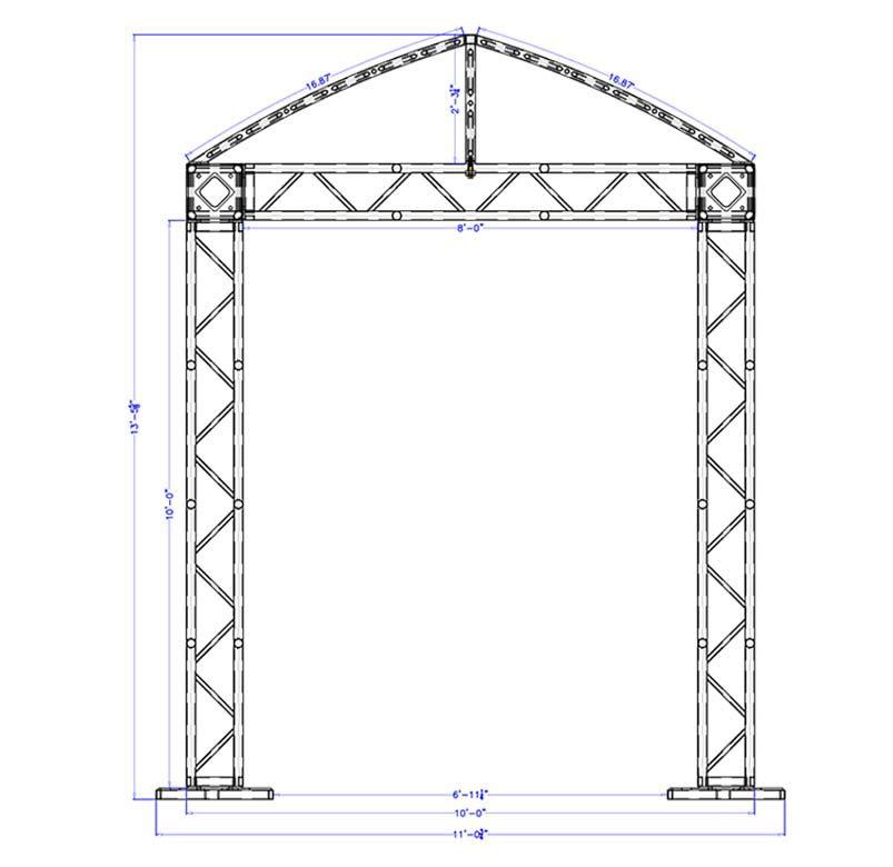 10 x 10 Modular Truss System - Front