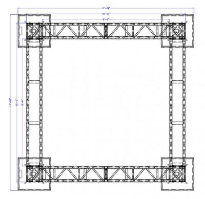 10 x 10 Modular Truss System - Plan