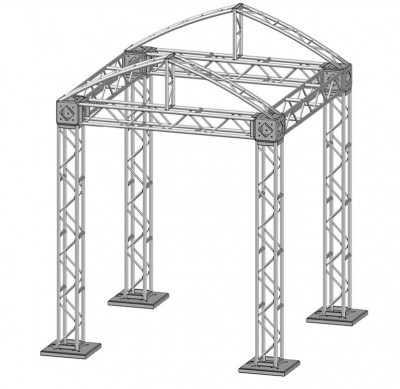 10 x 10 Modular Truss System - Skeleton
