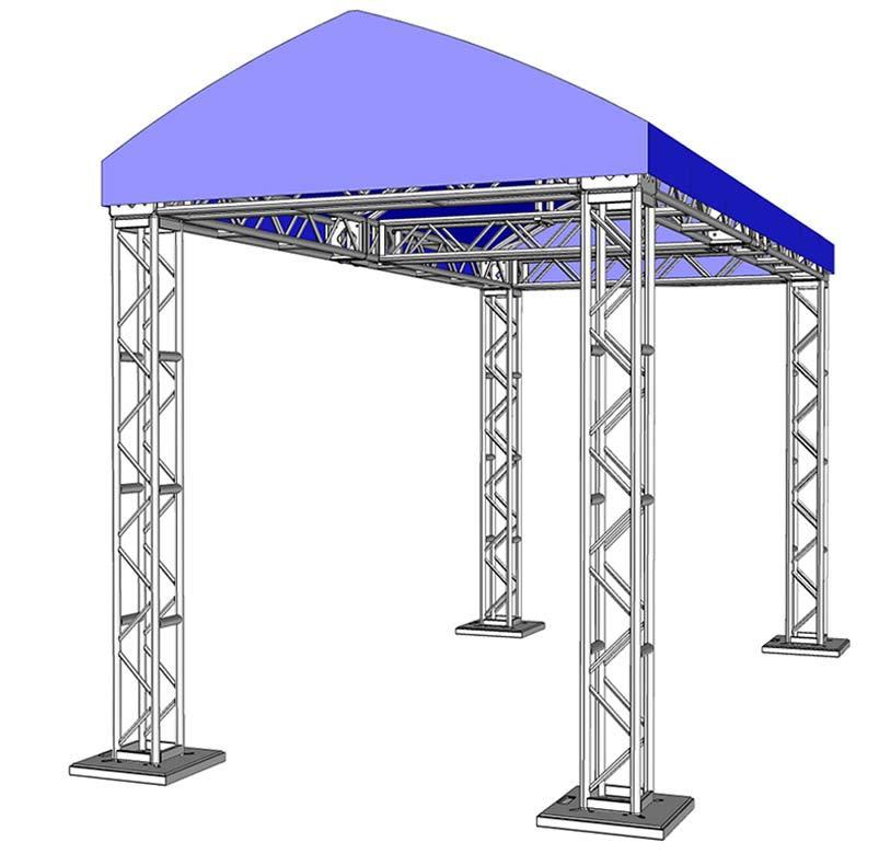 10 x 20 Modular Truss System - Assembled