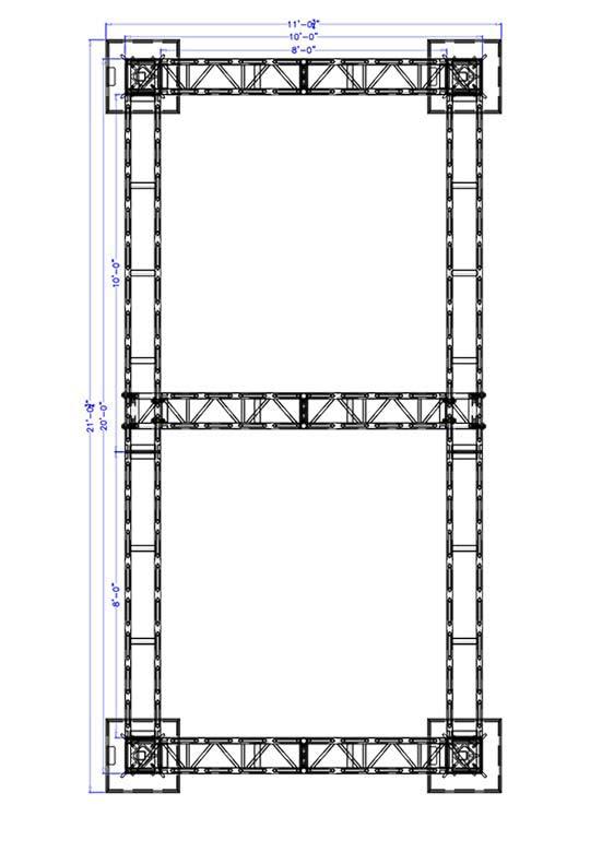 10 x 20 Modular Truss System - Plan