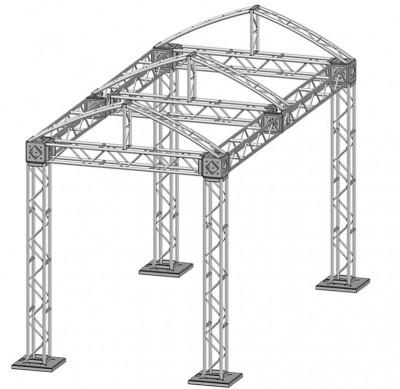 10 x 20 Modular Truss System - Skeleton