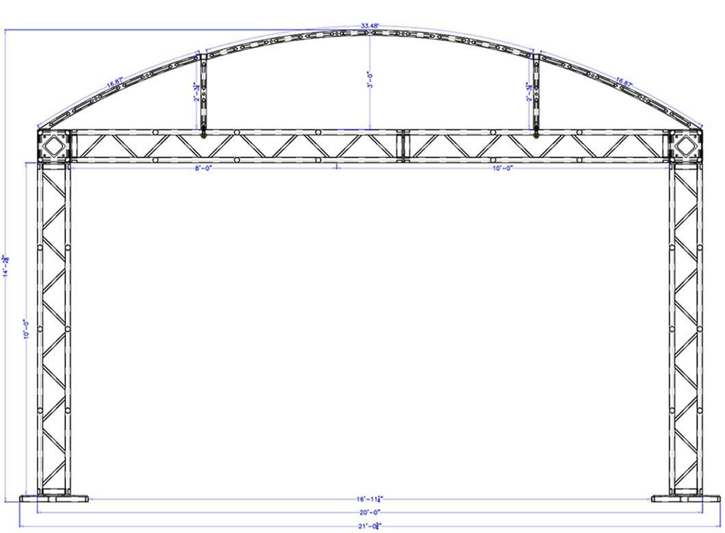 20 x 10 Modular Truss System - Front