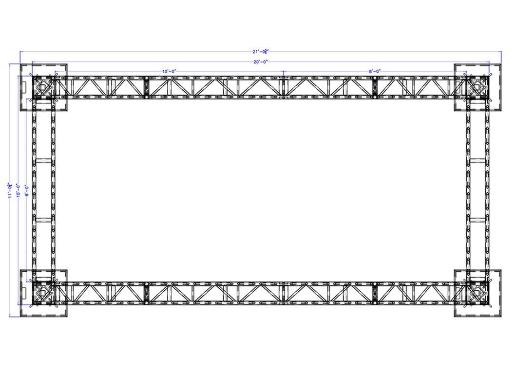 20 x 10 Modular Truss System - Plan