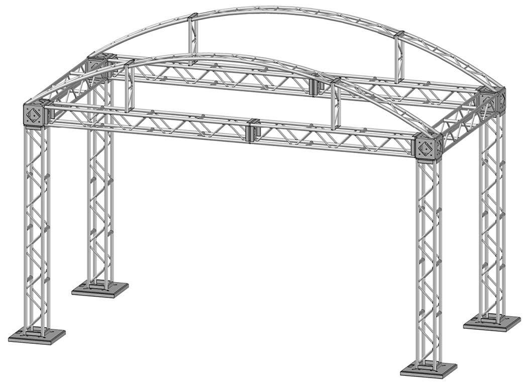 20 x 10 Modular Truss System - Skeleton