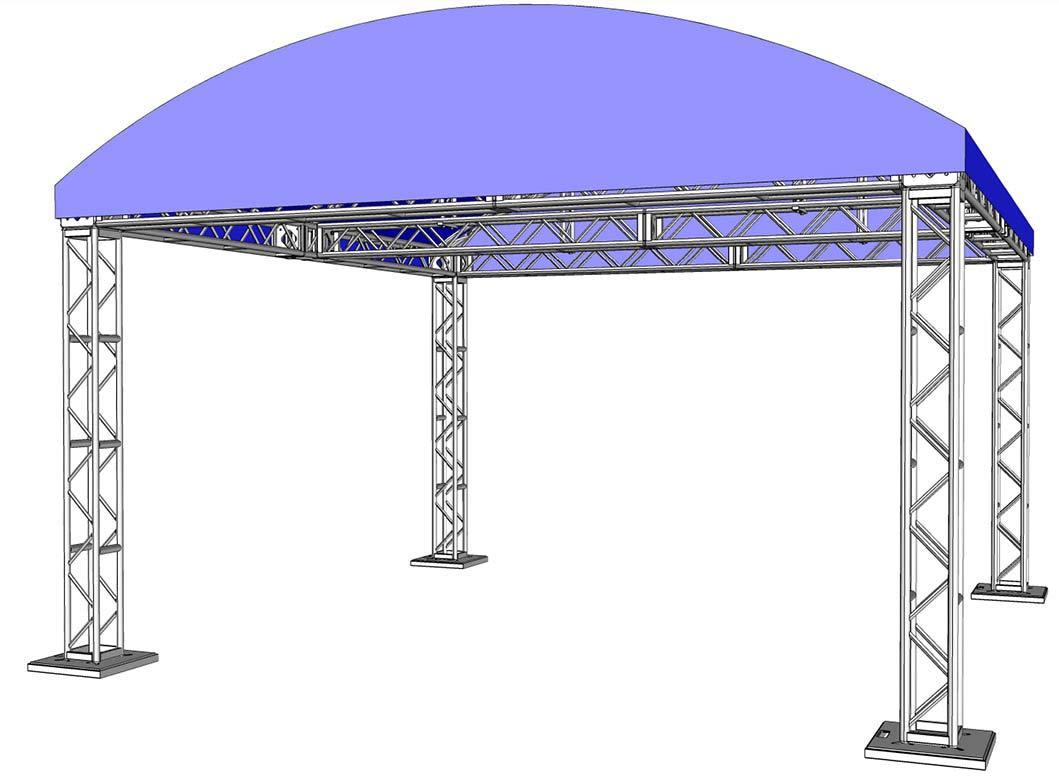 20' x 20' Full Assembled Modular Truss System