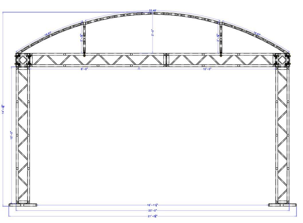 20 x 20 Modular Truss System - Front