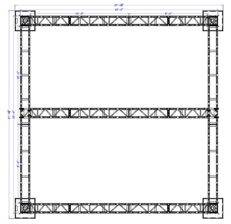 20 x 20 Modular Truss System - Plan
