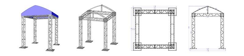 10' X 10' Modular Truss System