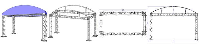 20' X 10' Modular Truss System