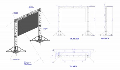 LED Screen on XSF Goal Post Truss System