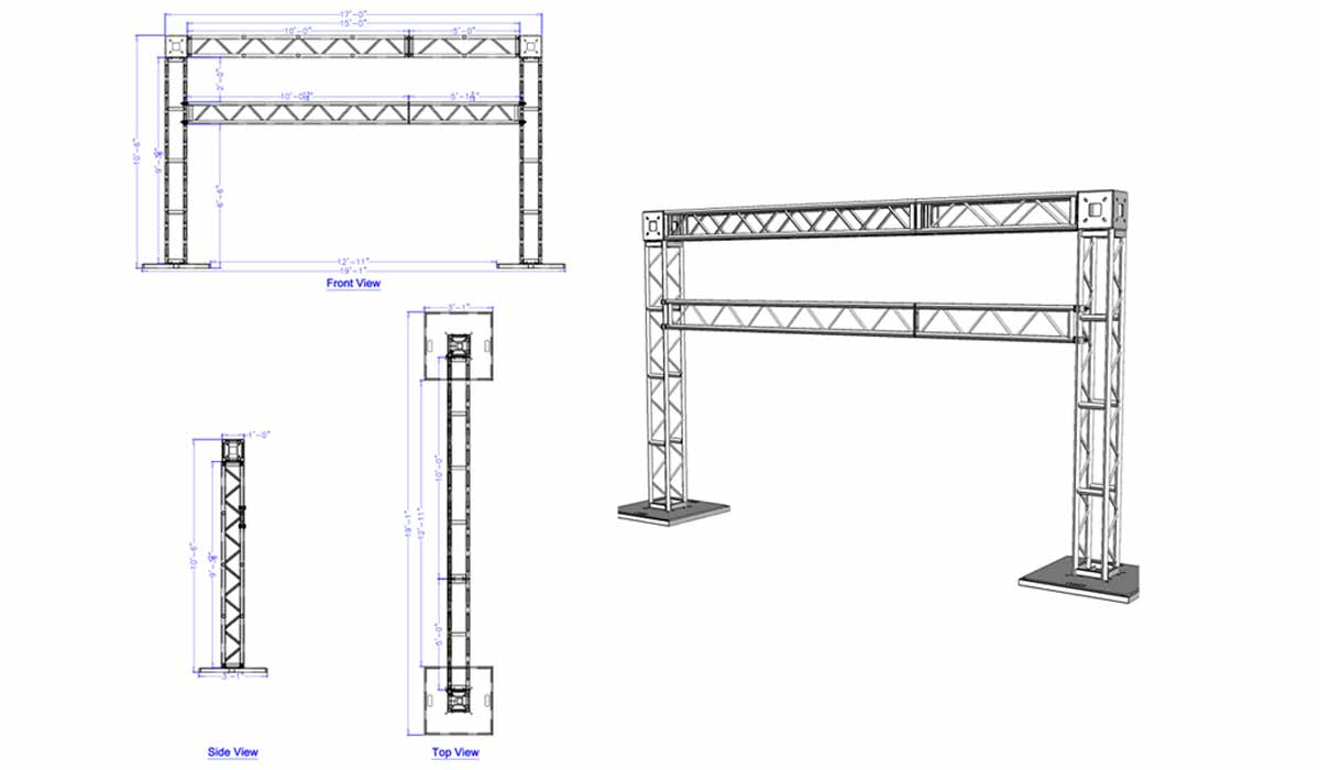Goal Post Truss Systems Drawings
