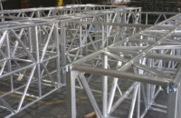 XSF Test Fit for Pier 17 Truss Roof System -New York City