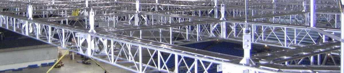 Truss Grid in Stadium Setting