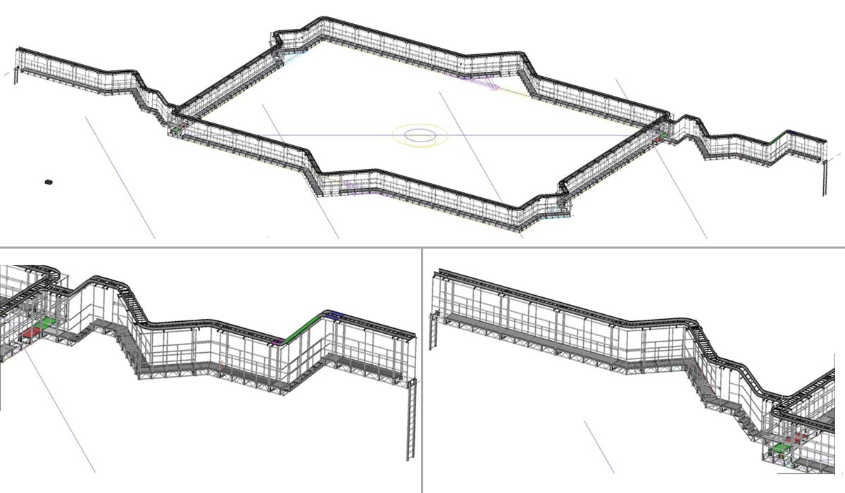 Aluminum Arena Catwalk Drawings