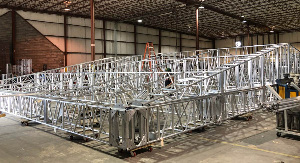 Test Fit Facility Roof Truss System