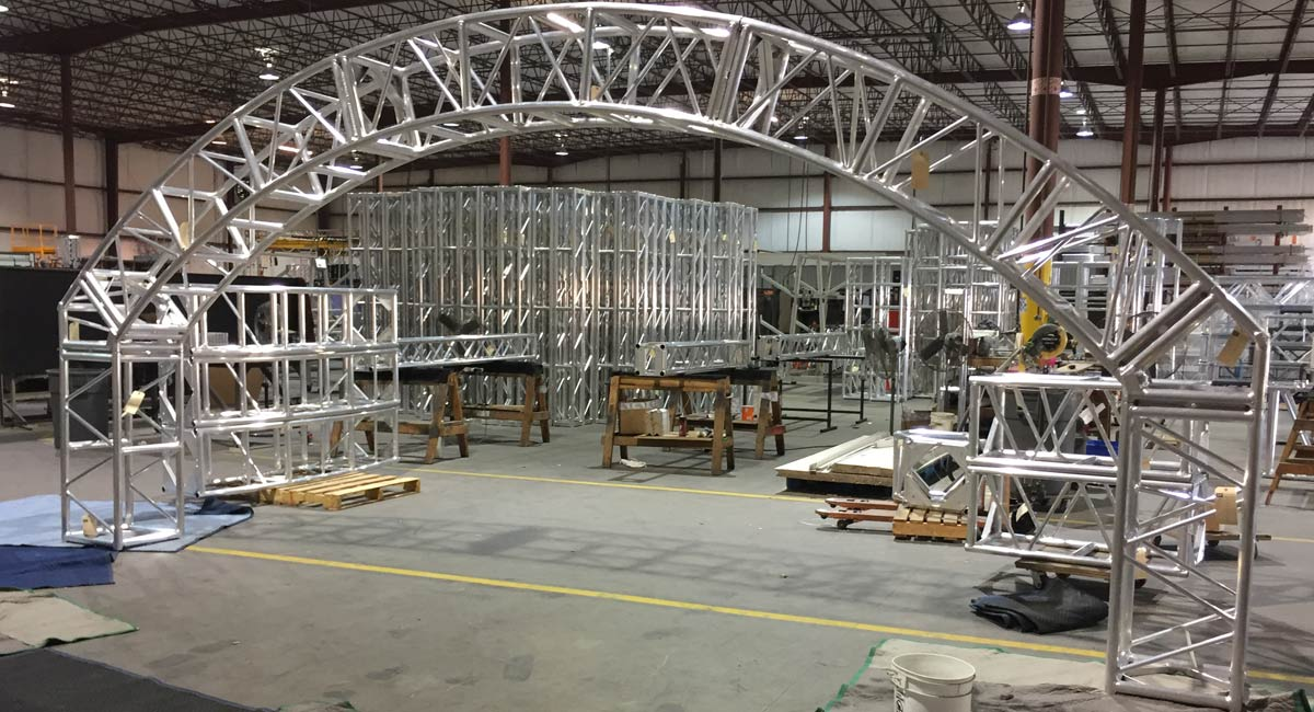 Test Fit Facility Arch Truss