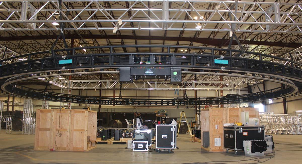 Truss Test Fit Facility With Circular Truss