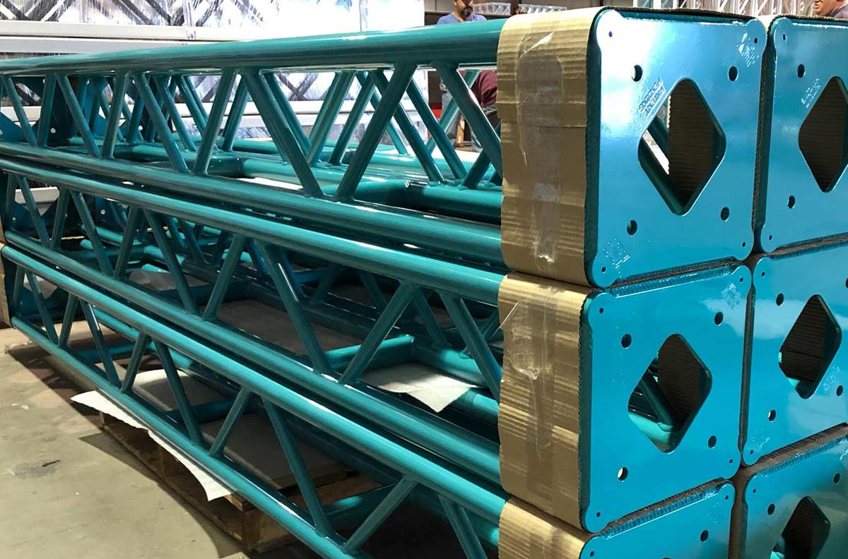 Blue Powder Coated Truss