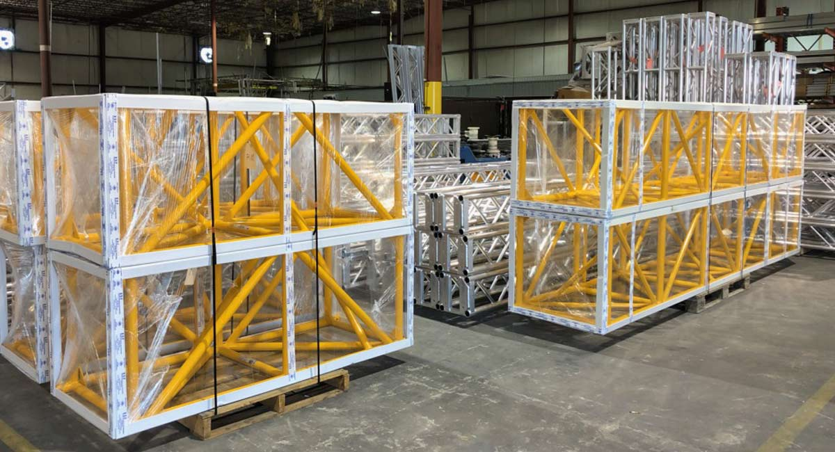 Packaged Powder Coated Truss