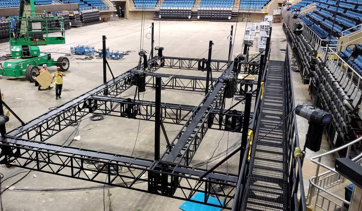 Mississippi Installation Powder Coated Arena Grid