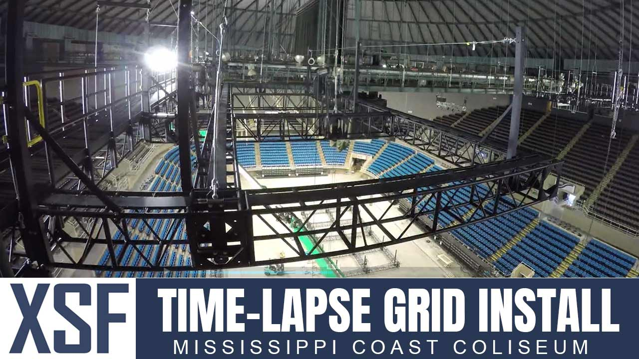 Time Lapse Arena Grid Installation