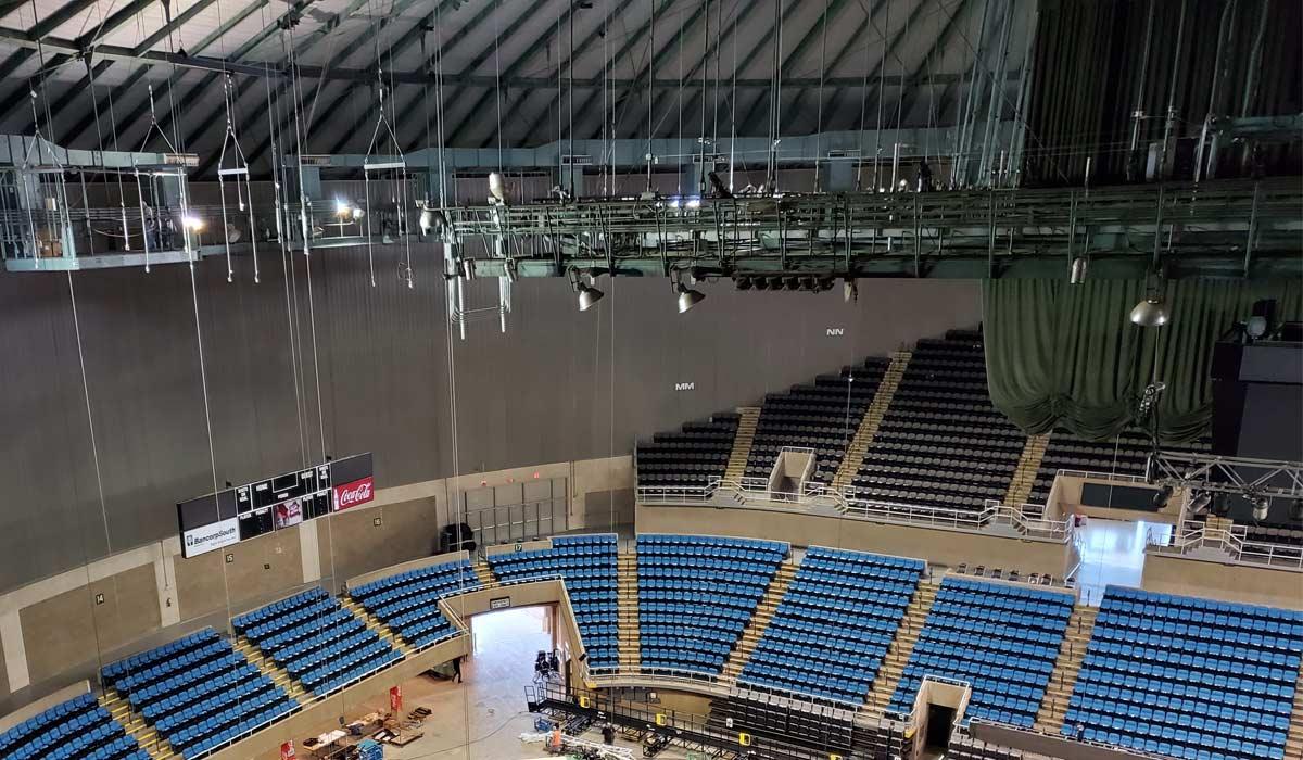 Truss Arena Grid Mississippi Installation